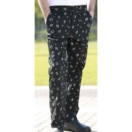 Kuchárske nohavice 100% bavlna - motív gastro NOVÉ - Dopredaj