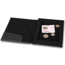 Krabička na účtenky, peniaze a mince 14x20 cm, čierna