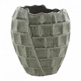 Indoor Pottery Pot High square Design Mint 17x19 cm