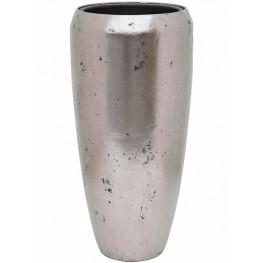 Kvetináč Opus Raw Partner silver strieborný ( s vnutrom) 40x85 cm