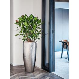 Kvetináč Opus Raw Partner silver strieborný ( s vnutrom) 31x65 cm
