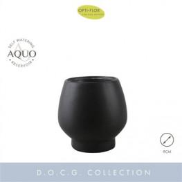 Keramický kvetináč čierny Black Abruzzo Aquo 9 cm