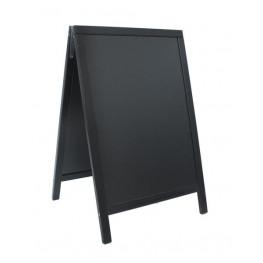 Ponuková stojanová tabuľa DUPLO SANDWICH 80x55cm,čierna