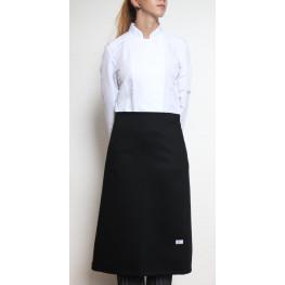Kuchárska zástera nízka 100% bavlna - čierna
