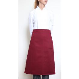 Kuchařská zástěra nízká 100% bavlna - bordó