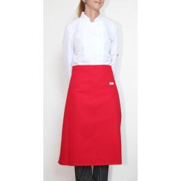 Kuchárska zástera nízka 100% bavlna - červená