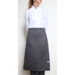 Kuchařská zástěra nízká 100% bavlna - šedá