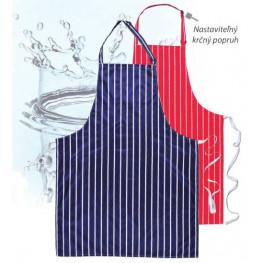 Vodeodolná kuchárska zástera - modrá/červená