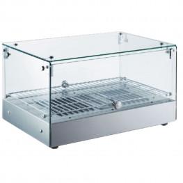 Ohrevná vitrína LINOREX® MINI – hranata – jednopolicova