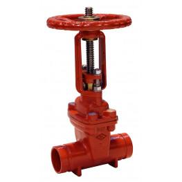 """ATUSA - Liatinový drážkový posúvač, Typ 610, 2.1/2"""", DN 65 - červený, 6V61020B"""