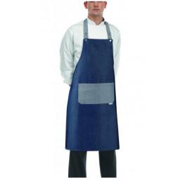 Kuchárska zástera ku krku s vreckom - ROCK- Jeans
