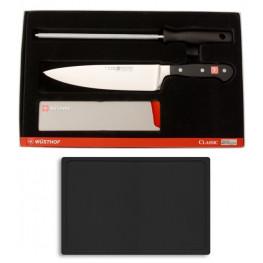 Wüsthof CLASSIC nôž kuchársky 20 cm, Ocieľka, ochrana noža + doska 9755-9