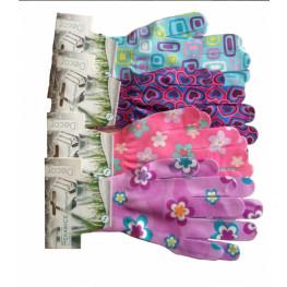 Pracovné rukavice Flowers vzor kvety veľkosť S