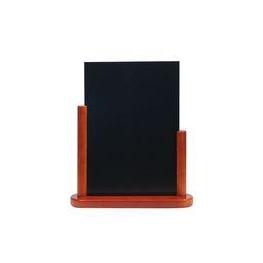 Stolový stojan s tabuľkou, lakovaný, veľký, mahagón