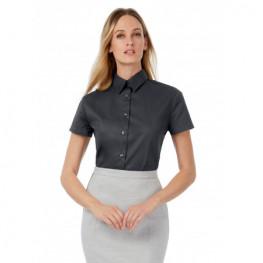 Dámská číšnická košile, krátký rukáv - šedá
