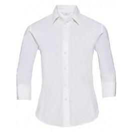 Dámská číšnická bluza 3/4 rukáv bílá