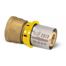 """TOF-MP GAS PRESS Ms prechodka PEX-AL-PEX s vnút. závitom F1/2""""x16mm, hrúbka rúry 2mm, G12GG40400"""