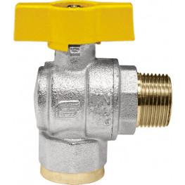 "VENUS 1072G266 Guľový rohový ventil na plyn M/F 1"", DN 25, T-páka"