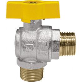 "VENUS 1073G265 Guľový rohový ventil na plyn M/M 3/4"", DN 20, T-páka"