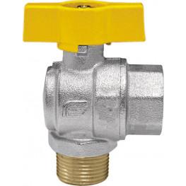 "VENUS 1074G264 Guľový rohový ventil na plyn F/M 1/2"", DN 15, T-páka"