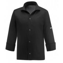 Kuchařský rondon VIP s košilovým střihem UNISEX - černý