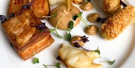 R. Krcho: Sous vide bravčový bôčik, pyré z bielej pečenej kapusty, zemiakové krokety