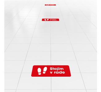 Samolepky na podlahu, obdĺžnikové