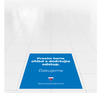 Samolepky na podlahu, štvorcové