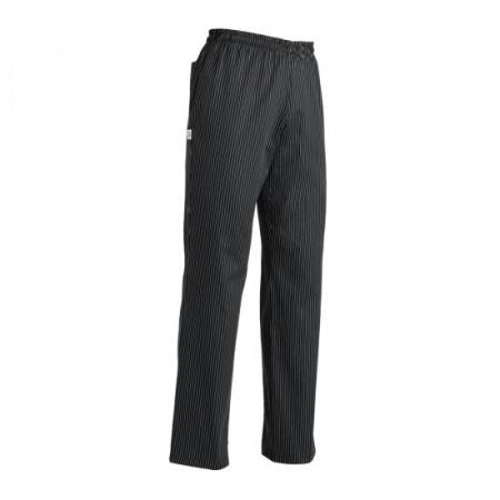 Kuchárske nohavice BIG BOY, jemné biele pásy, veľkosti 5XL - 7XL