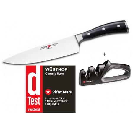 Wüsthof CLASSIC IKON nůž kuchařský 20 cm + bruska ZDARMA 1030330120+4347
