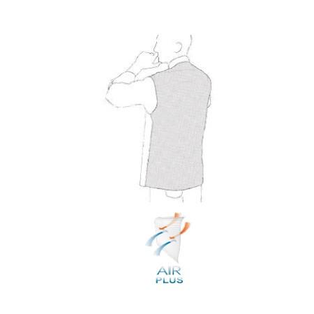 Kuchársky rondon OTTAVIO cool vent čierny - krátky rukáv