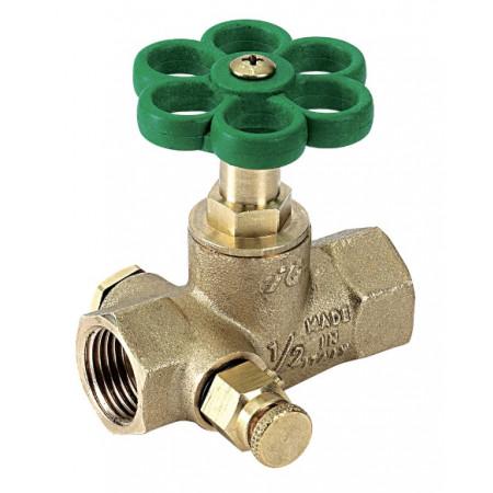 """Priamy ventil s odvodnením typ 3300 F/F 1.1/4"""" 33000010"""