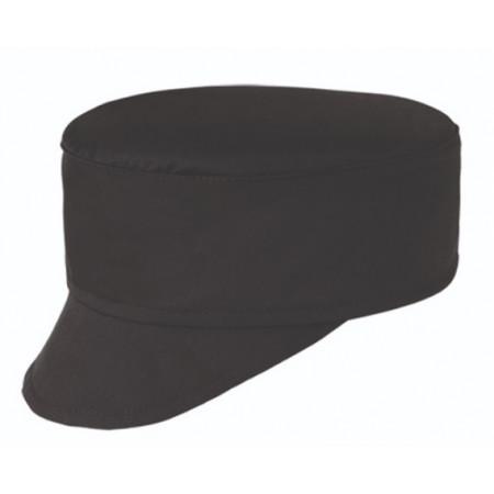 Kuchařská čepice s kšiltem - černá