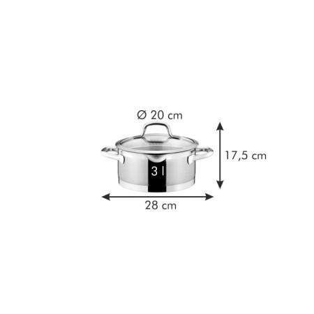 Tescoma kastról PRESIDENT s cediacou pokrievkou ø 20 cm, 3.0 l
