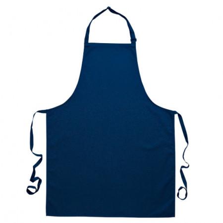 Kuchařská zástěra ke krku s přezkou - tmavomodrá