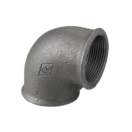 """HD Čierny fiting - Koleno 90 F/F 1/2"""", 09001003"""