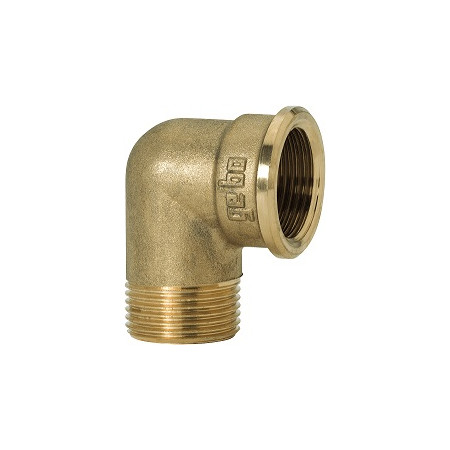 "GEBO Gold - Ms Koleno 90° M/F 3"", G92-11BR"
