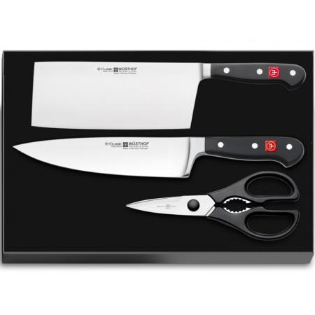 Wüsthof CLASSIC Sada 2 nožů + Kuchyňské nůžky 9285