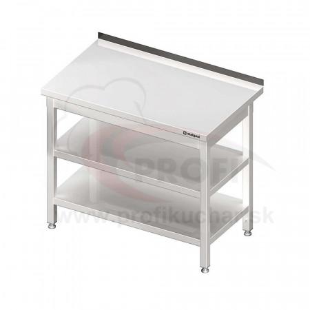 Pracovný stôl s dvoma policami 600x600x850mm