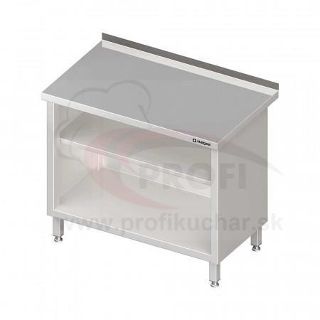 Pracovný stôl krytovaný - otvorene 1400x600x850mm