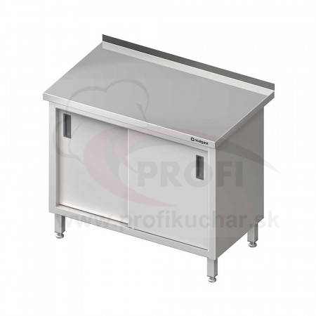 Pracovný stôl krytovaný - posuvné dvere 900x600x850mm
