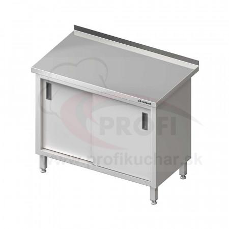 Pracovný stôl krytovaný - posuvné dvere 1600x600x850mm