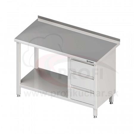 Pracovný stôl so zásuvkami - s policou 1000x700x850mm
