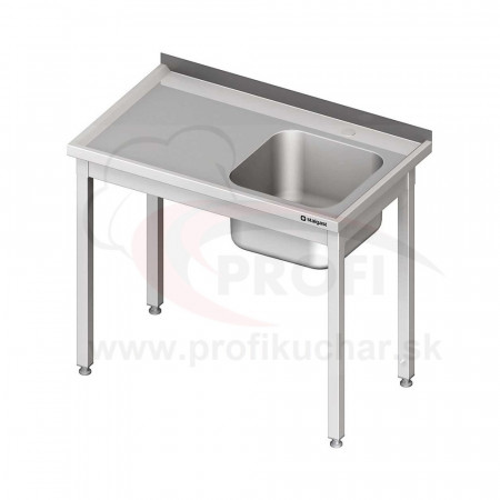 Umývací stôl s drezom - bez police 1100x600x850mm