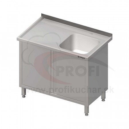 Umývací stôl krytovaný s drezom - krídlové dvere 1200x600x850mm