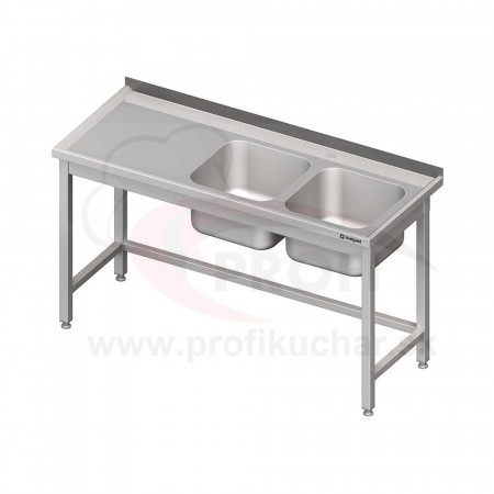 Umývací stôl s dvojdrezom - bez police 1900x600x850mm