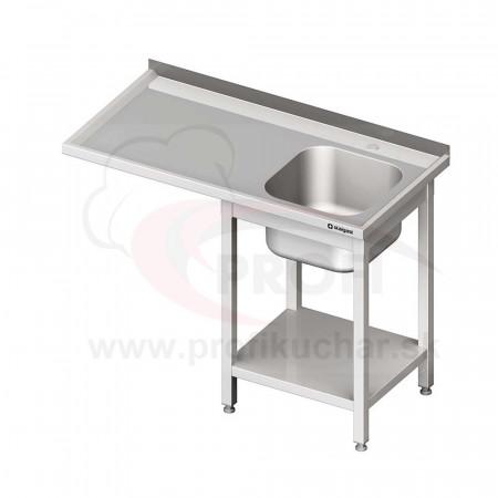 Umývací stôl s priestorom pre podstolovú umývačku – LAVÝ 1600mm
