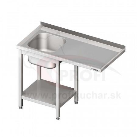 Umývací stôl s priestorom pre podstolovú umývačku – PRAVÝ 1600mm