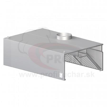 Nástenný odsávač pary - hranatý 2200x900x450mm