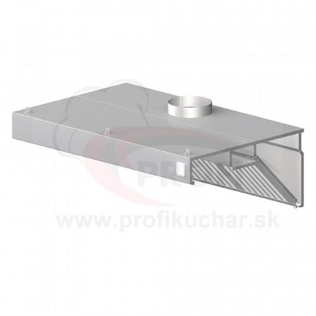 Nástenný odsávač pary - kosený 2300x700x450mm